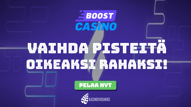 boost casino uutinen viidakko - Vaihda lojaalisuuspisteet oikeaksi käteiseksi